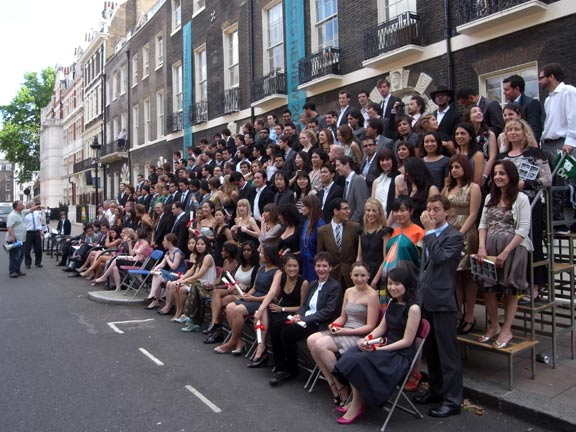 The Class Of 2009: 176 Graduates Of The Architectural Association School Of  Architecture, Getting Ready For Their Class Photograph In Front Of The AA  School ...